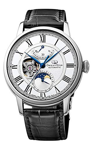 ORIENT STAR Open Heart Moon Phase Power Reserve Roman Automatic Watch RE-AM0001S