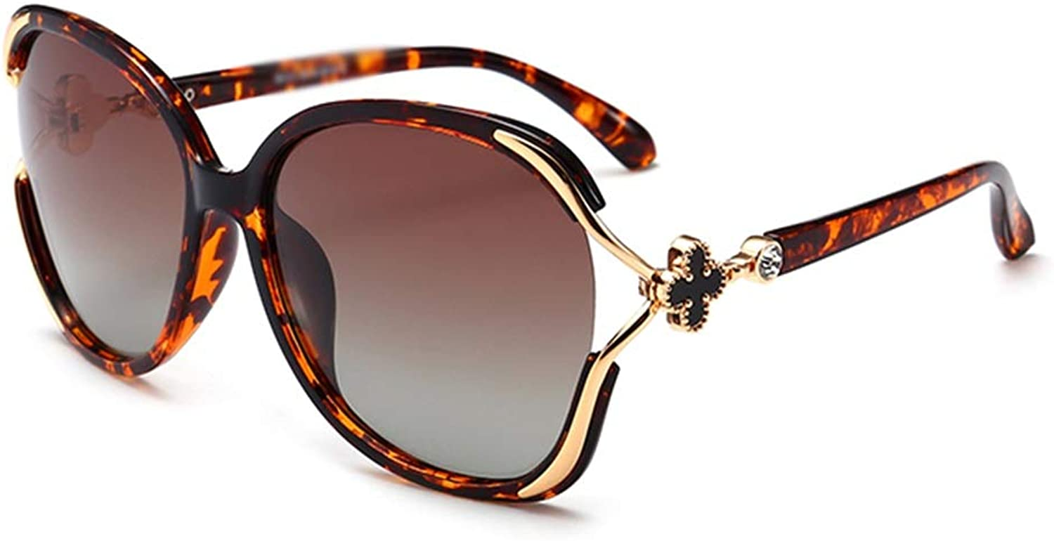 XINGZHE Sunglasses  Polarized, UVResistant, Trendy Personality, Ladies' Driving, Travel, Outdoor Sports, 5 colors to Choose from Sunglasses (color   Leopard)