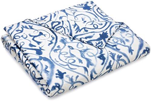 Designers Guild Housse de Couette, Coton, Bleu et Blanc, 260cmX240cm