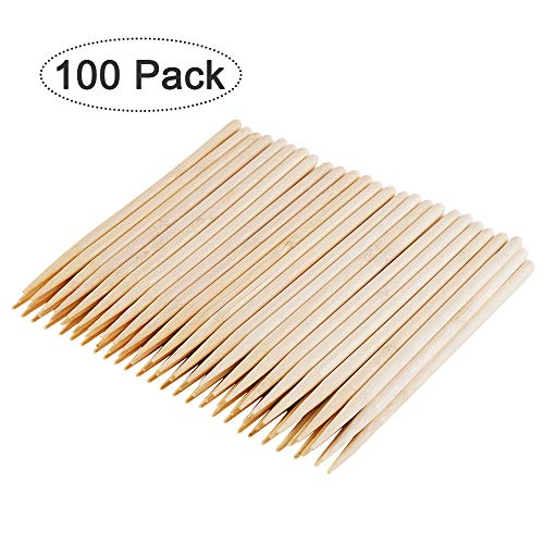 LOCONHA 5.5'(100 PCS) Natural Bamboo Skewers for Shish Kabob, Appetizer, Fruit, Corn, Chocolate Fountain, Cocktail and More Food,Crafting and Party. Φ=5mm