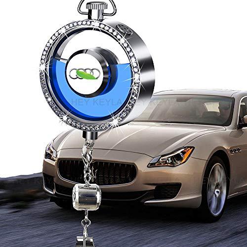 HEY KEYLA Auto Emblem Kristall Duft Diffusor für Auto Logo Lufterfrischer Rückspiegel Parfüm Anhänger Autodekoration Geruch Entfernen