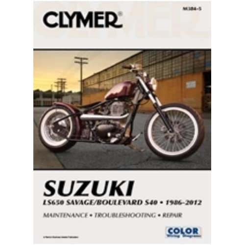 Amazon Clymer Repair Manual For Suzuki Ls650 Boulevard S40 86 Rhamazon: 1986 Suzuki Savage 650 Schematics At Gmaili.net