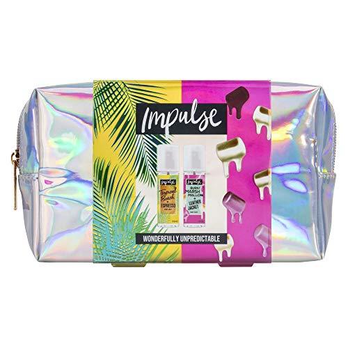 Impulse Wonderfully Unpredictable Iridescent Beauty Bag Set de regalo para mujer con spray de niebla corporal, perfecto relleno de calcetín 8717163704585