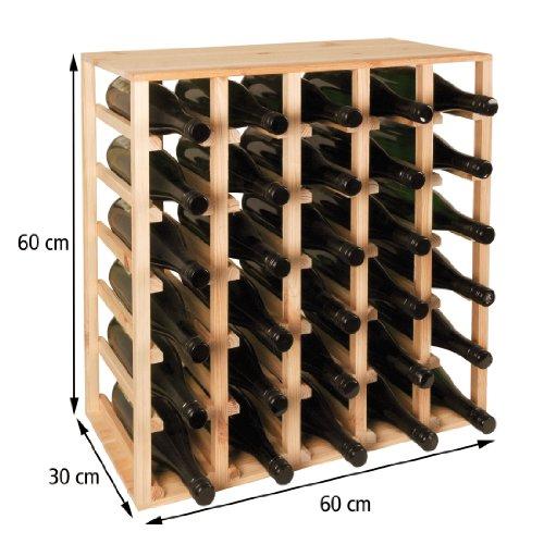 Weinregal/Flaschenregal QUADRI für 30 Fl. 62 x 60 x 30 cm