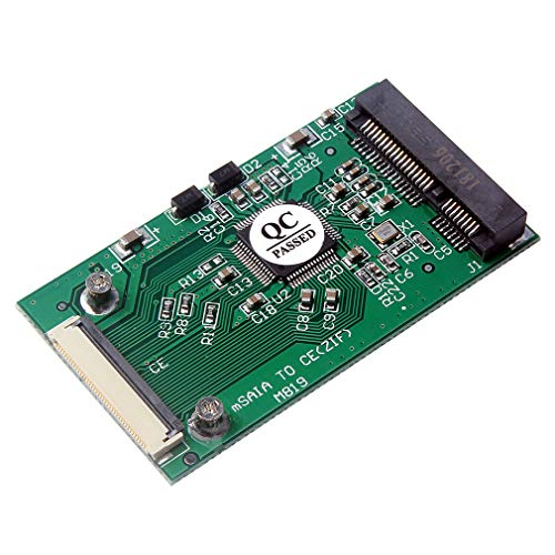 HiLetgo MSATA to CE ZIF MSATA PCI-E 1,8 Zoll SSD to 40 Pin ZIF CE Konverter Card SSD HDD Adapter Konverter