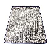 Almohadilla de papel de aluminio, Colchoneta para tienda al aire libre Colchón para dormir Almohadilla de papel de aluminio a prueba de humedad, Colchoneta de doble cara para picnic para acampar(Colo