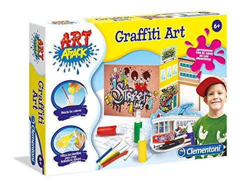 Clementoni- Juego Graffiti-45x31 Graffiti Art Attack, única (55210.8)