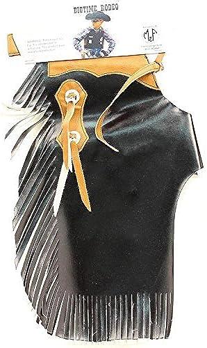 producto de calidad M & F Western Boys' Bigtime Bigtime Bigtime Rodeo Chaps negro Large by M & F Western  marca de lujo