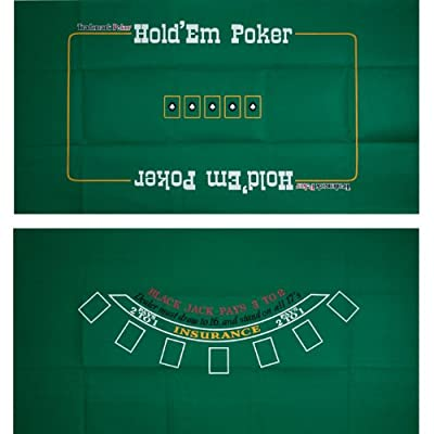 Trademark Poker Blackjack and Texas Hold'em Two-Sided Layout 36-Inch x 72-Inch
