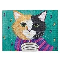 猫柄 かわいい猫 大人と子供のための木製ジグソーパズル500ピース、クリエイティブギフトの家の装飾のためのアートワークジグソーパズルおもちゃ