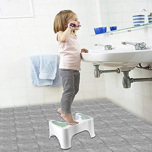 トイレ踏み台 ステップ 子供 トイレトレーニング 便座 補助台 高さ約21cm … 緑足跡