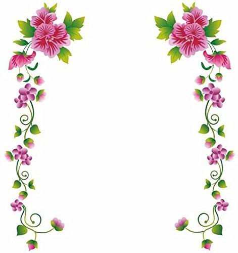 Decals Design 'Flower Vines' Wall Sticker (PVC Vinyl, 70 cm x 25 cm, Multicolour)