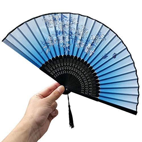Eagles Handheld - Ventiladores plegables de bambú huecos para mano con ventiladores con un borla para boda, iglesia y cubierta