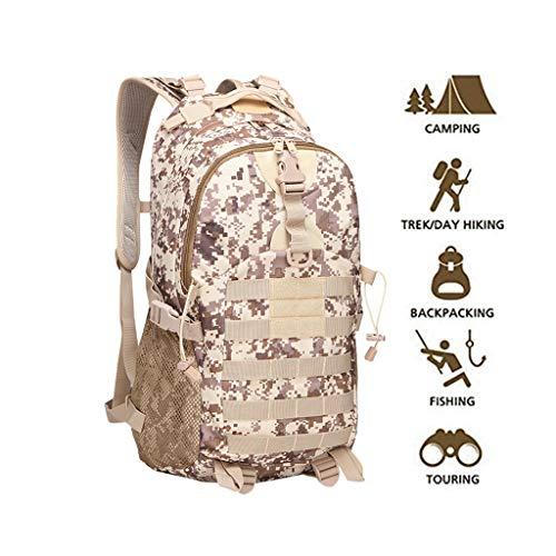 WUZHENG Tactique randonnée Sac à Dos Militaire Sac à Dos imperméable Sports Daypack pour Camping Voyage Trekking Escalade,Desert