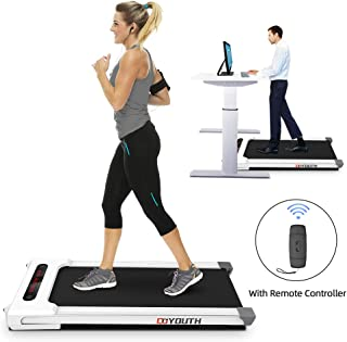 Grneric Goyouth Under Desk Electric Treadmill Motorized Exercise Machine with Wireless Speaker and Shock Absorption for Home/Office Use