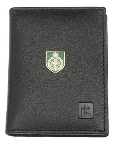 Royal Green Jackets Leather Bifold Wallet Card Holder RFID Safe ME19