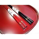 輪島漆塗箸 みやこわすれ ワンポイント手書き蒔絵箸1膳バラ (黒)