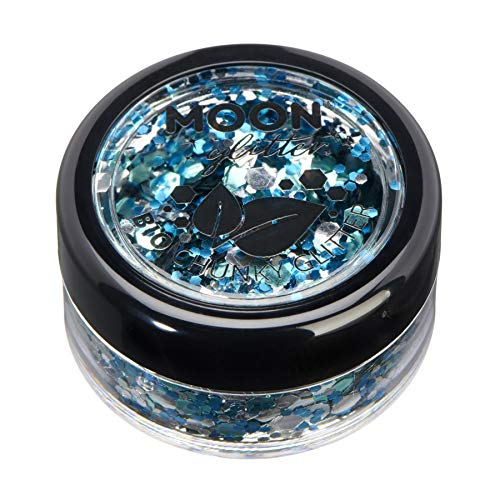 Mystiker Biologisch abbaubarer Öko-Glitter von Moon Glitter - 100% kosmetischer Bio-Glitter für Gesicht, Körper, Nägel, Haare und Lippen - 3g - Gletscher