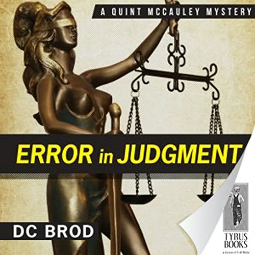 Error in Judgment audiobook cover art