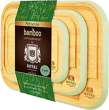 3-Piece Royal Craft Wood Bamboo Cutting Board