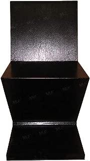 Emorden Furniture Gerrit Thomas Rietveld Zig Zag Chair, Solid Wood with Ash Wood Veneer. (Black)