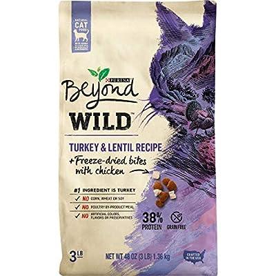 Purina Beyond High Protein, Grain Free, Natural Dry Cat Food, WILD Turkey Recipe + Freeze Dried Bites - 3 lb. Bag