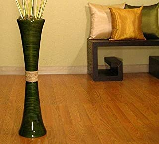 Green Floral Crafts | 27'' Green Bamboo Trumpet Vase (Vase Only)