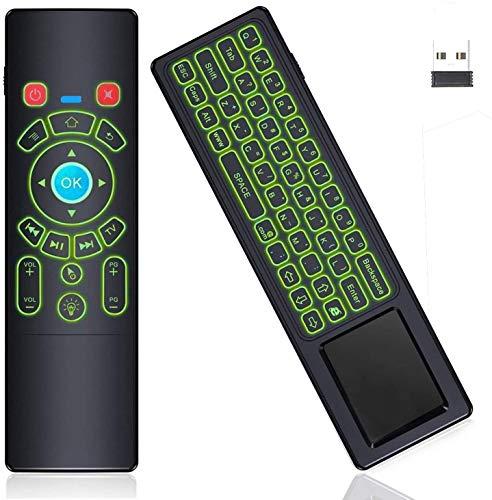 RGB Backlit Air Remote Mouse Mini Keyboard Touchpad Remote,T6+ Handheld Wireless Mini Keypad Media Remote Control for Android TV Box,Windows PC,Laptop,Mac Mini PC,Smart Projector,HTPC,Raspberry Pi 3 4
