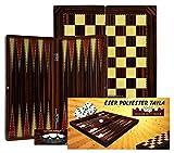 Eser Tavla Büyük Boy Backgammon Set mit hoher Qualität Holz Polyester Neu Yeni -