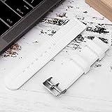 Accesorio de reloj de banda de reloj de banda de reloj de silicona blanca/negra con patrón de grano de neumático de barra de resorte de 3 piezas(white)