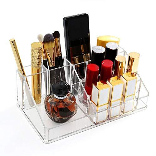 QAZ Organizador De Maquillaje Maletin Inicio Cosméticos Caja De Almacenamiento De Cepillo Cosmético Labial De Rack De Almacenamiento Caja De Plástico De Escritorio