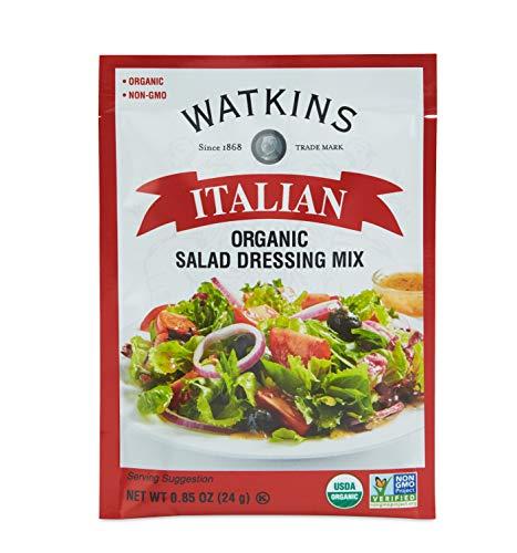 Watkins Organic Italian Salad Dressing Mix, 0.85 oz. Packets, 12-Pack