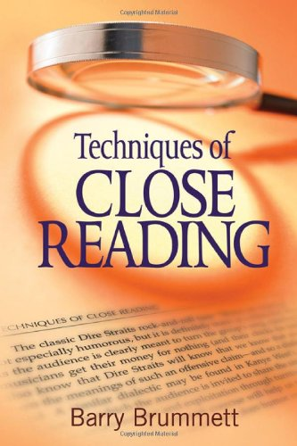 Download Techniques of Close Reading 1412972655