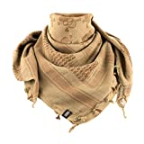 Shemagh - Military Tactical Desert Head Scarf Neck Wrap Keffiyeh (Coyote/Brown)