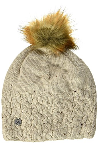 Buff Femme Knitted et Polar A Elie Bonnet, Beige, One Size