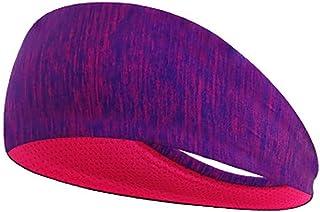 Women'S Wide Elastic Headband For Sports,Running,Yoga,Fitness,Alopecia Elastic Breathable Headband Purple Purple