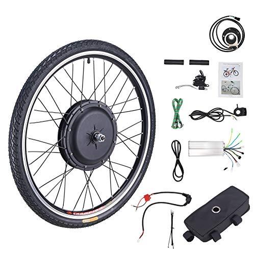Z ZELUS 26'' Kit di Conversione Bici Elettrica Controllo Mozzo Motore Hub E-Bike Ruota Bicicletta Regolatore di velocità (Ruota Anteriore 48V 1000W)