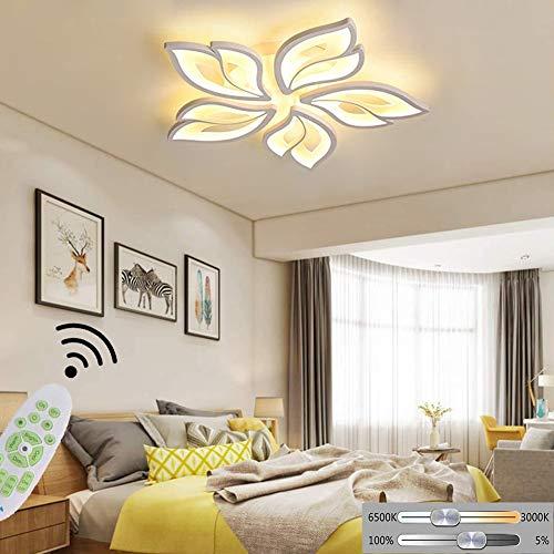 LED Deckenlampe Dimmbar Wohnzimmer Deckenleuchte Schlafzimmerlampe Modern Blumen Design mit Fernbedienung Metall Acryl Deckenbeleuchtung Pendelleuchte Esstischlampe Esstisch Kinderzimmer Deko Lampe