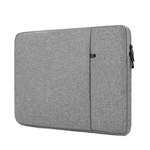 ProElife 12-Inch Laptop Sleeve Case Cover Canvas Tablet Protective Bag for Microsoft Surface Pro 4/Pro 5/Pro 6/Pro 7 12.3-Inch (2017 2018 2019 2020) & MacBook Air 11.6-Inch MacBook 12-Inch (Gray)