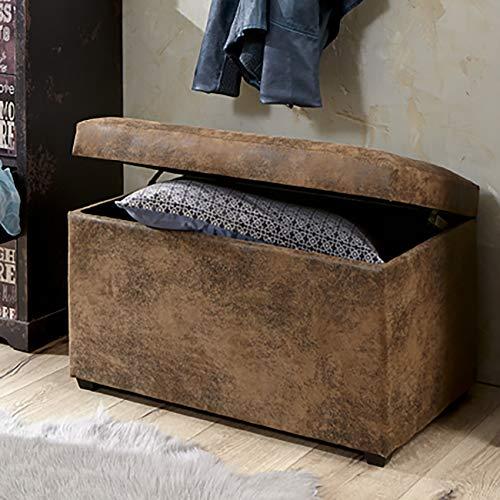 HAKU Möbel Sitztruhe vintage, braun, 65x40x42cm - 4