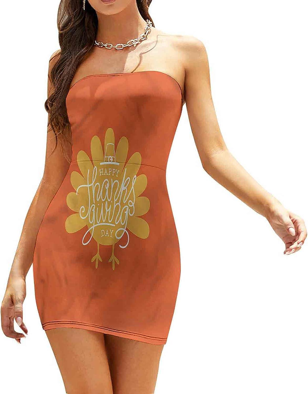 Women's Strapless Bodycon Club Dress Little Bird with Pumpkin Dresses