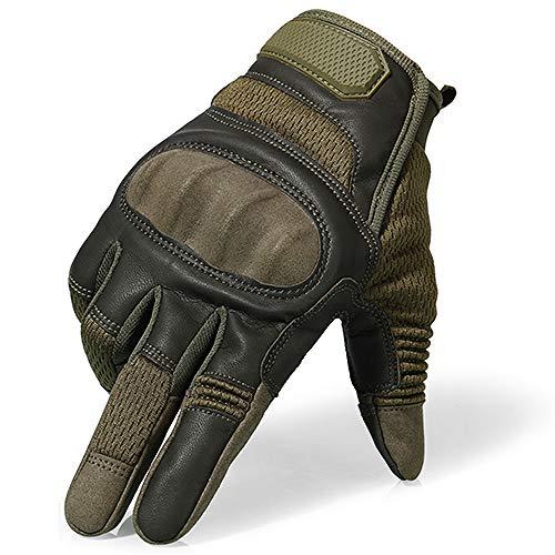 Badry Touchscreen Pu Leder Motorrad Hard Knuckle Vollfingerhandschuhe Schutzausrüstung Racing Biker Motorradfahren Moto Motocrossa23 Large