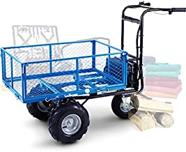 Landworks Utility Cart Hand Truck Power Wagon Super Duty Electric 48V DC 500W AGM Battery Max 500Lbs Load and 1000Lbs Hauling