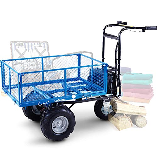 Product Image of the Landworks Utility Cart Hand Truck Power Wagon Super Duty Electric 48V DC 500W AGM Battery Max 500Lbs Load and 1000Lbs Hauling