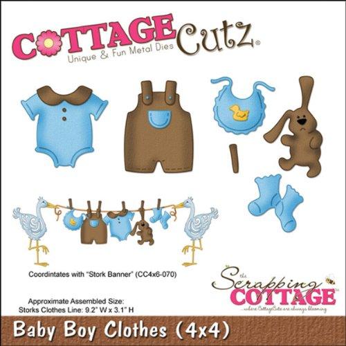 """CottageCutz Die 4""""X 4""""-Baby Boy vestiti"""