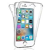 COPHONE® Coque Compatible iPhone 5c Intégrale et Transparente. Coque Silicone 360 degres, Housse...