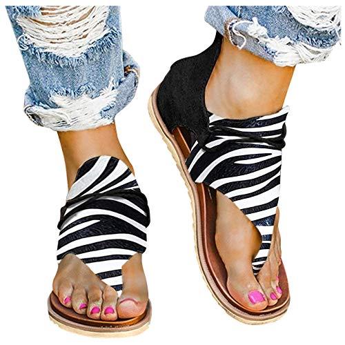 riou Sandalias Mujer Chanclas Verano Playa Zapatillas de Punta Abierta para La Playa Sandalias de Elegantes Zapatos Antideslizantes Casuales 2021