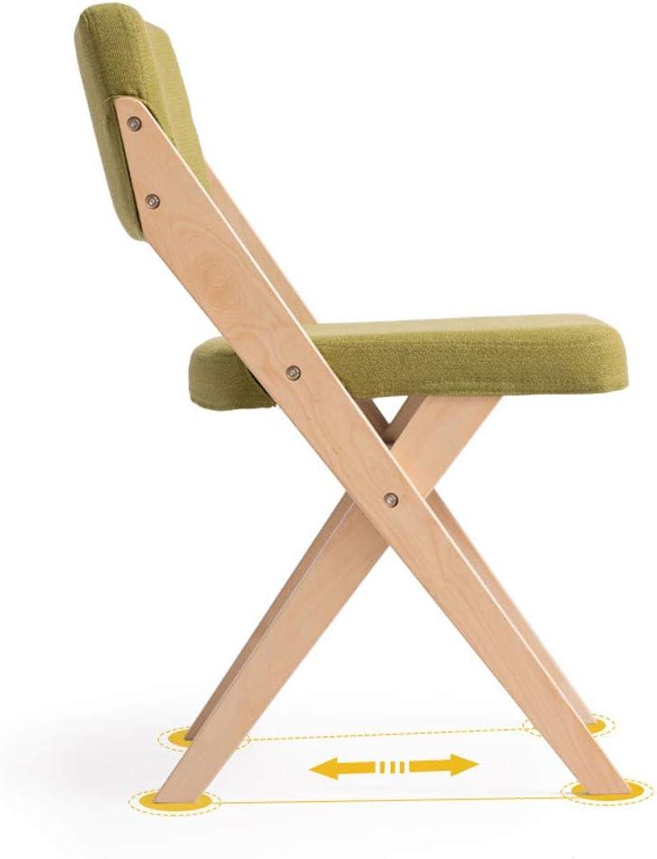AJZGFChaise de salle à manger, chaise de cuisine Chaise de salle à manger en bois massif, chaise en tissu moderne et simple (Color : B) F