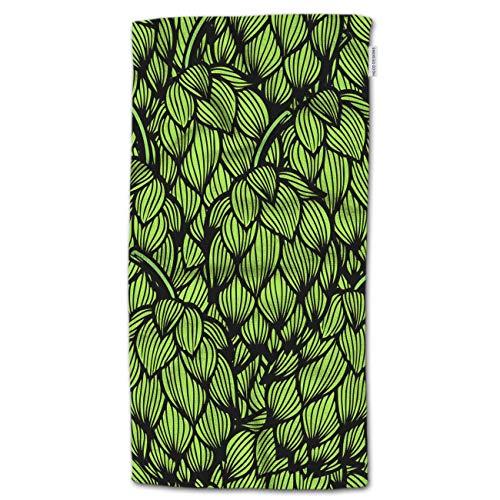 MERHERO Toalla de Mano Green Hops, Toallas de Mano Cartoon Green Hops Pattern 27.5'Lx15.7 W