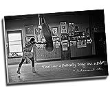 Leinwanddruck, Motiv Muhammad Ali Champion, Zitat Float